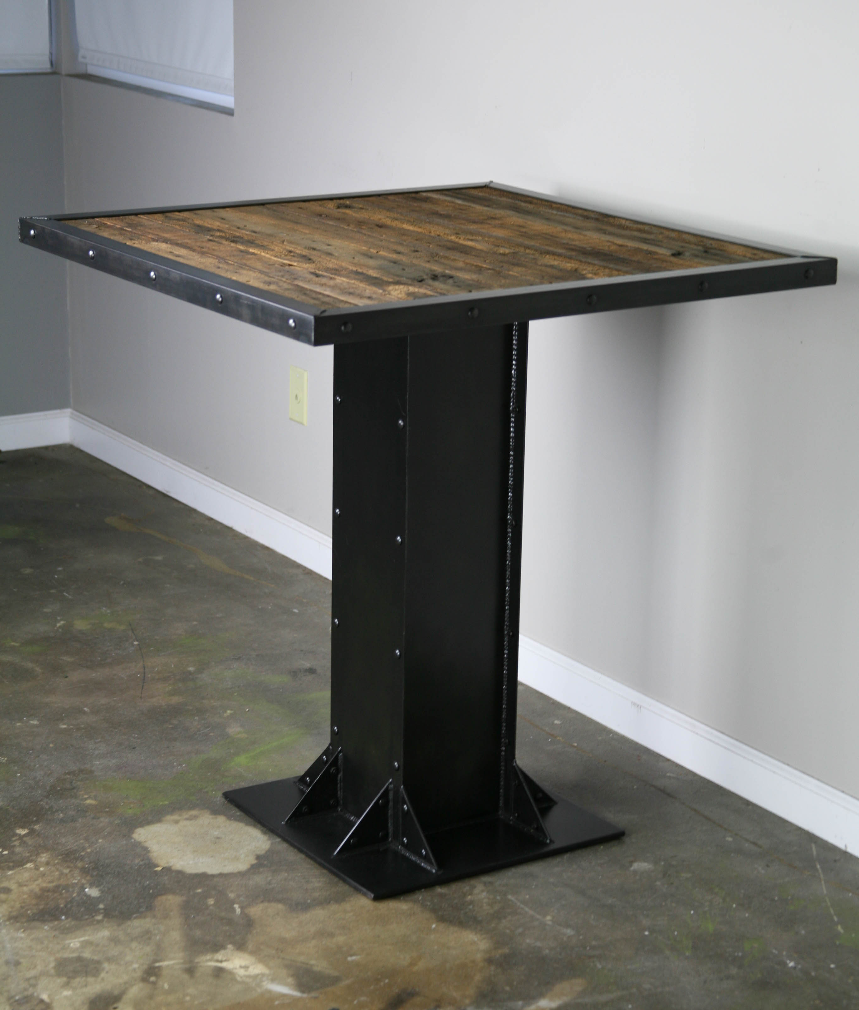 vintage modern industrial conference table combine 9