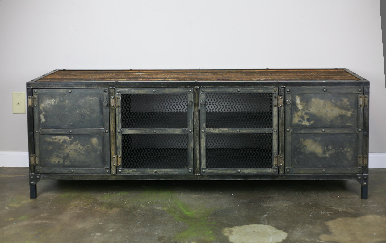vintage industrial buffet credenza combine 9. Black Bedroom Furniture Sets. Home Design Ideas