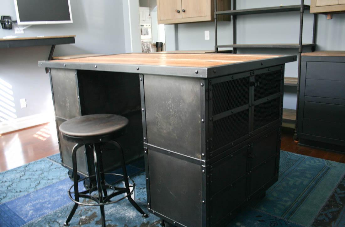combine 9 industrial furniture industrial kitchen industrial steel workbench kitchen island table omero home