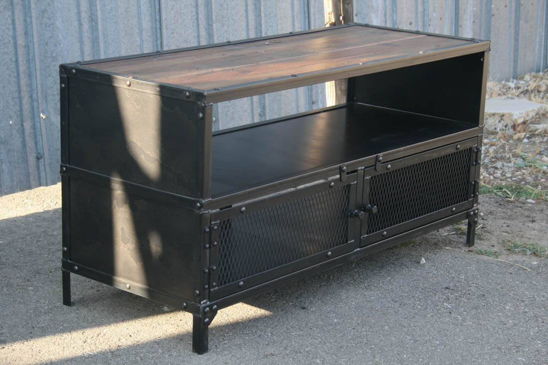 Combine 9 Industrial Furniture TV Stand
