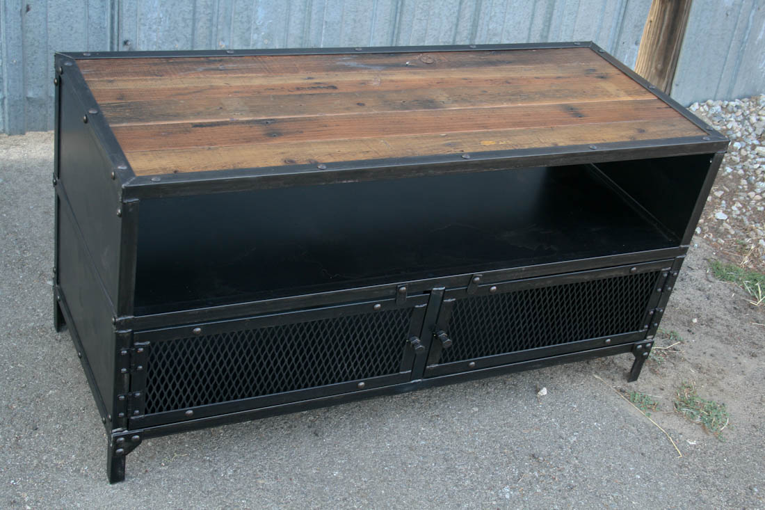 Combine 9 Industrial Furniture Industrial Tv Stand