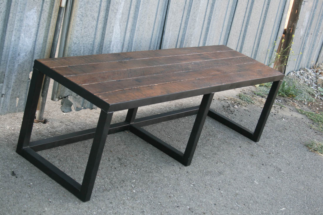 Steel Reclaimed Wood Bench