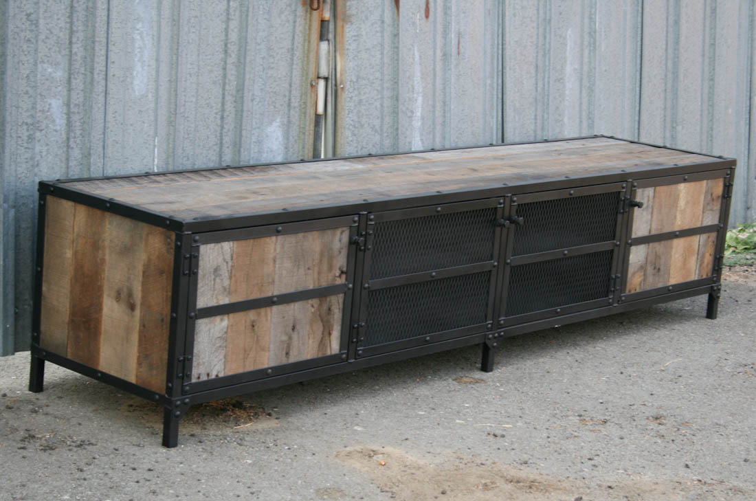 combine 9 industrial furniture industrial rustic credenza. Black Bedroom Furniture Sets. Home Design Ideas