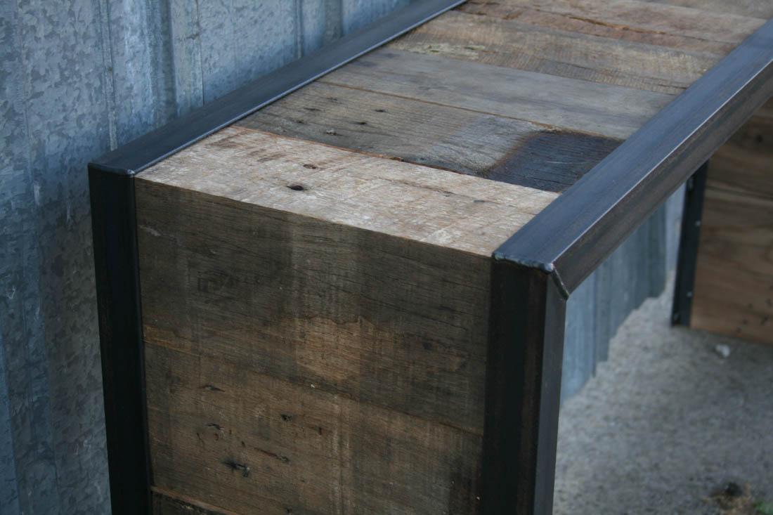Reclaimed barn wood minimalist rustic furniture reclaimed wood