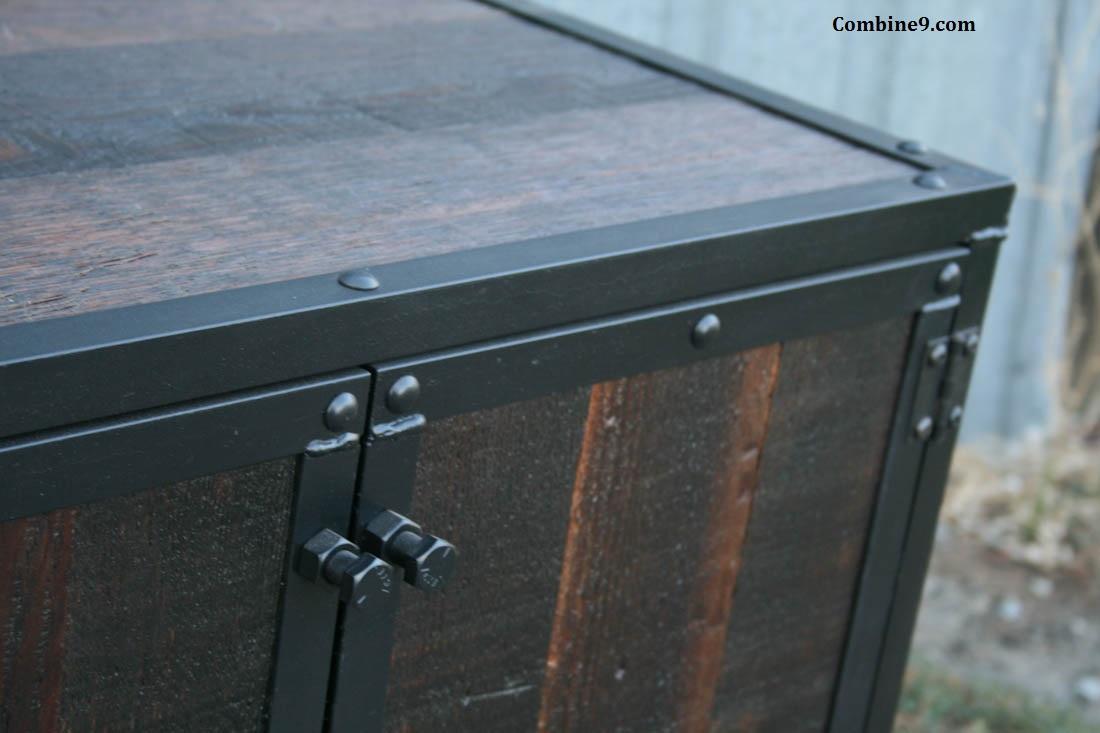 Industrial Wood And Metal Nightstand: Industrial Furniture – Reclaimed Wood Night