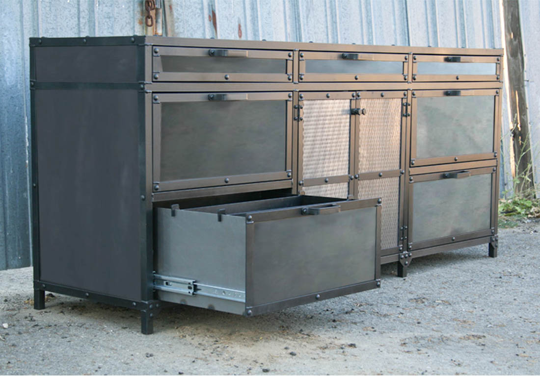 Combine 9 Industrial Furniture Industrial File Cabinet