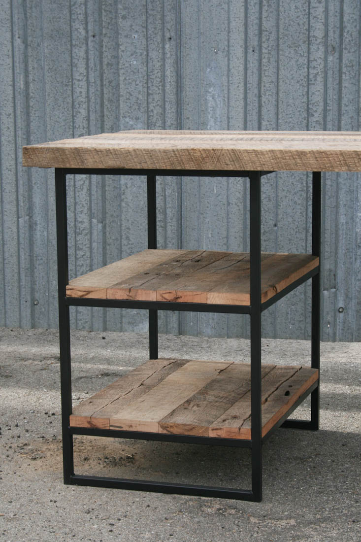 Combine 9 Industrial Furniture Reclaimed Wood Desk