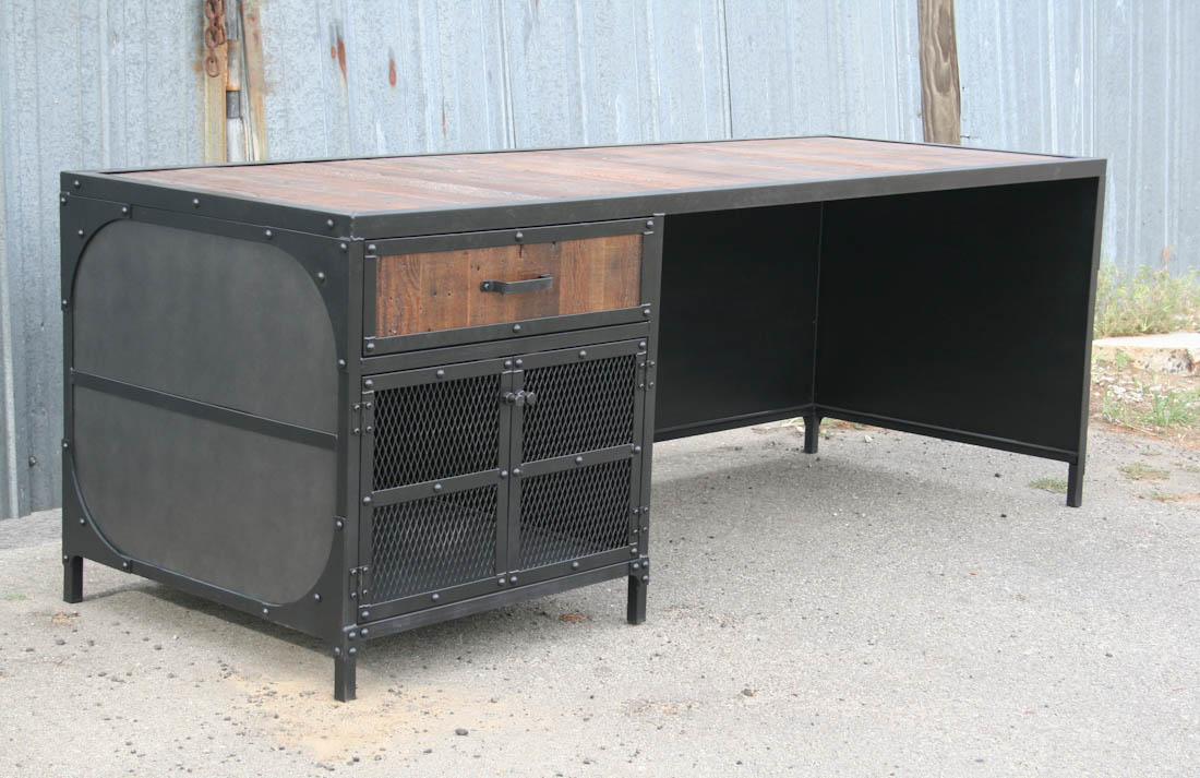 Combine industrial furniture desk
