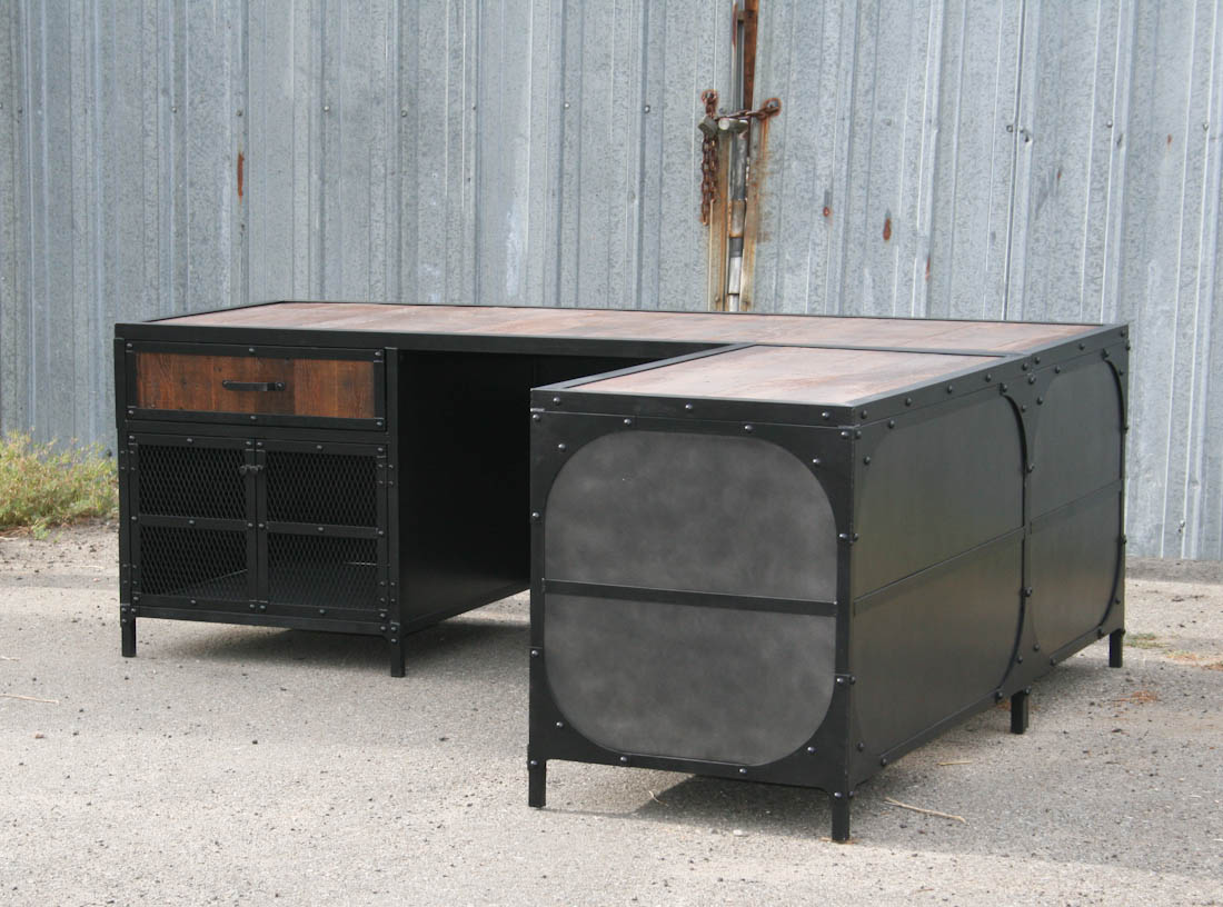 combine 9 industrial furniture industrial desk. Black Bedroom Furniture Sets. Home Design Ideas
