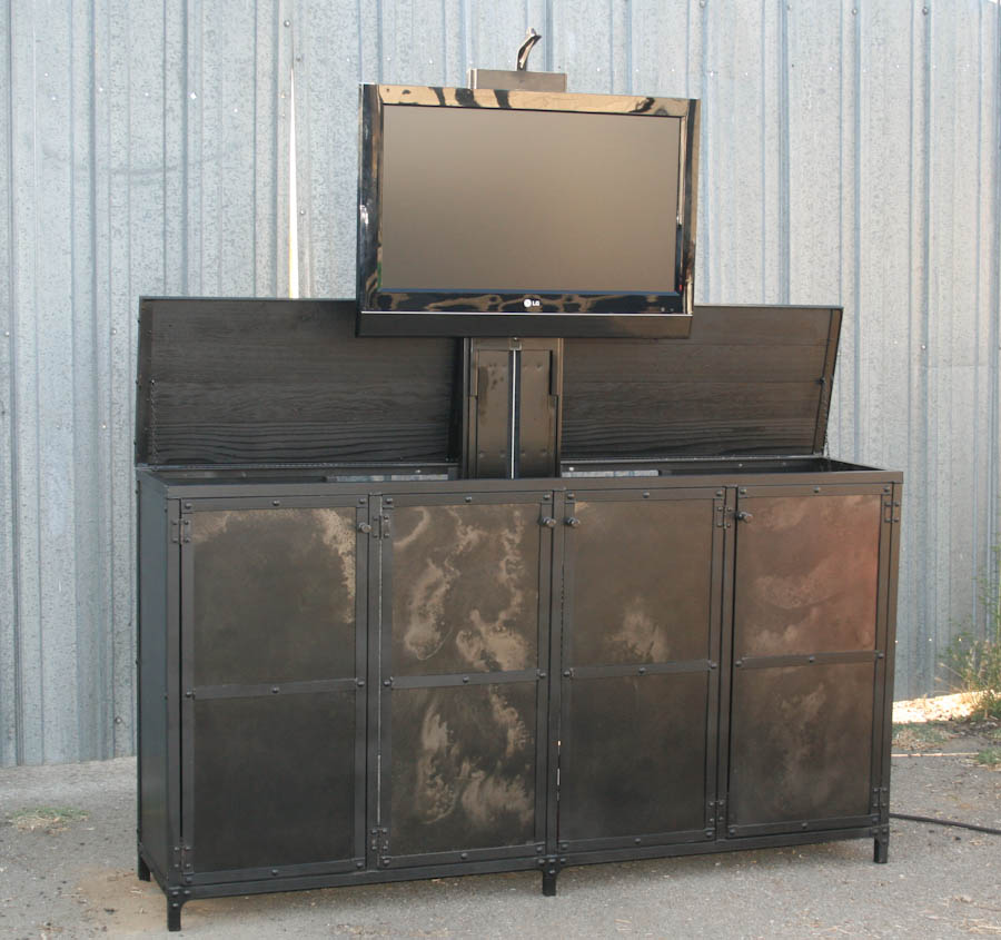combine 9 industrial furniture industrial motorized tv