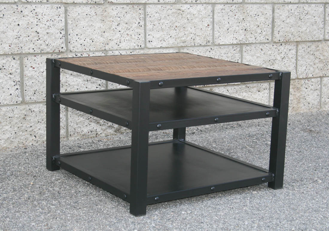 Modern Industrial Coffee End Table Combine 9 Vintage Industrial