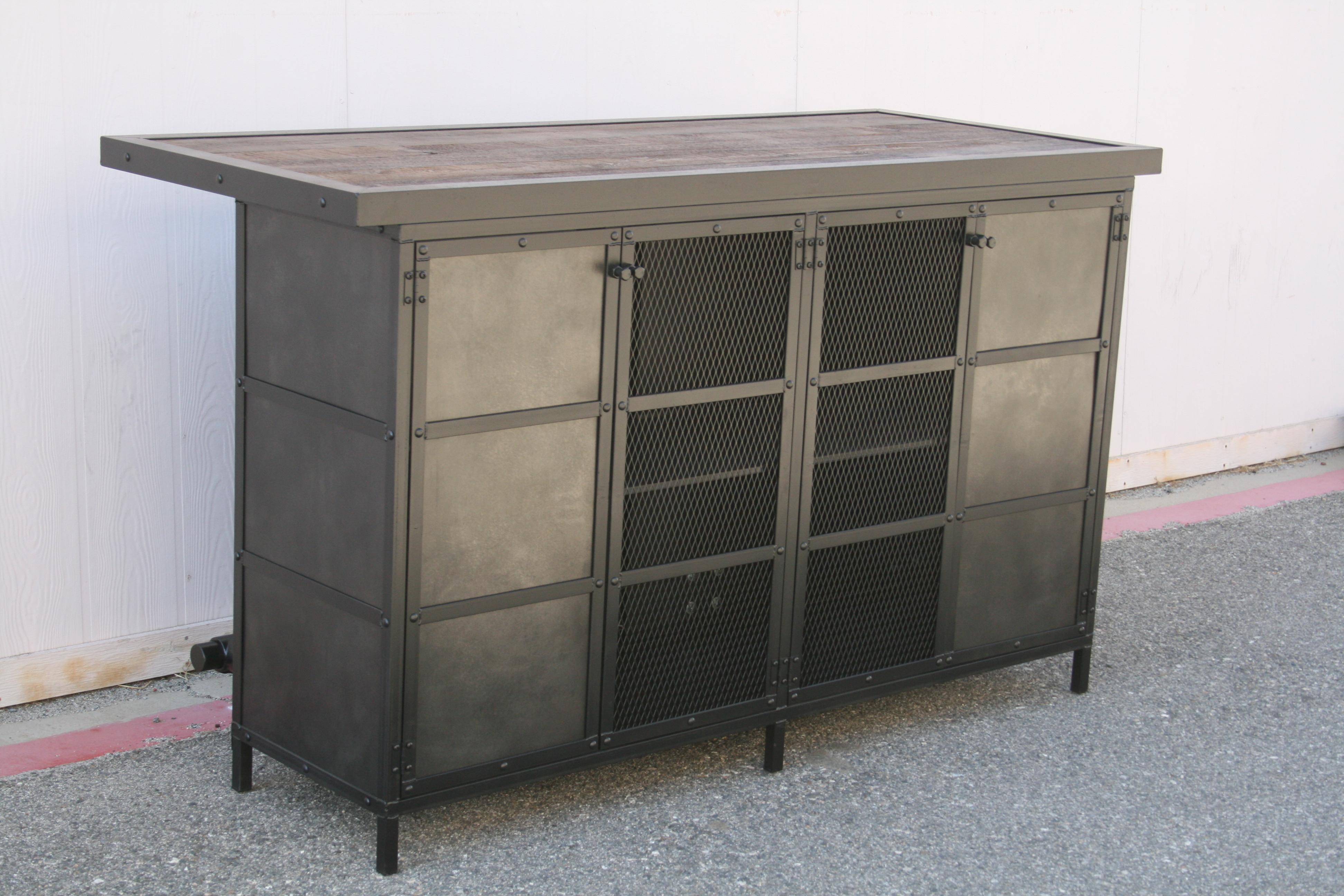 Combine 9 Industrial Furniture Modern Industrial Wet Bar