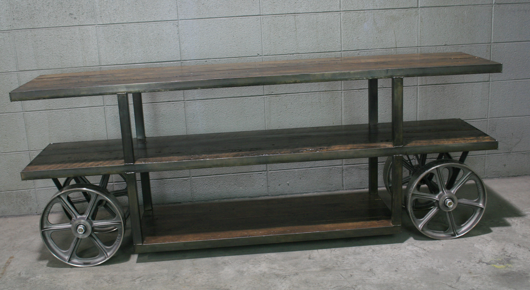 ... Console / TV Stand. reclaimed wood, steel. - Combine 9 | Vintage