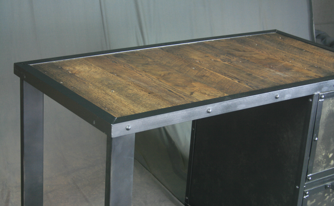 Industrial Desk With File Cabinet Combine 9 Design