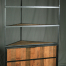 reclaimed wood industrial Corner unit with upper shelving 1
