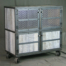 Vintage Industrial Bar Cart with White Wash Finish