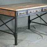 vintage industrial style desk