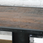 reclaimed wood desk top