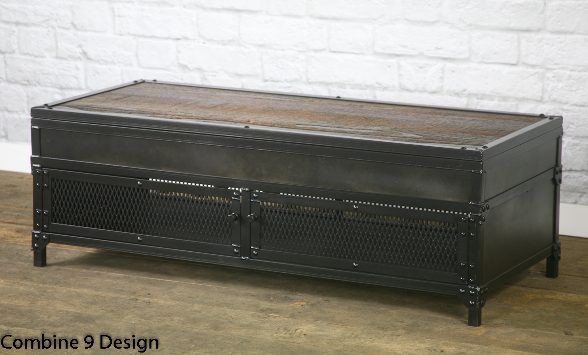 Modern industrial lift coffee table