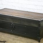 vintage industrial lift coffee table