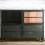 modern rustic liquor cabinet