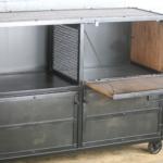 modern industrial bar cart