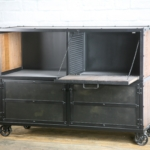 vintage industrial liquor cabinet
