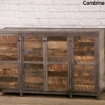 Reclaimed wood tv lift cabinet