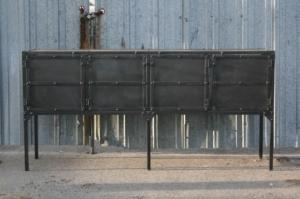 Industrial steel credenza