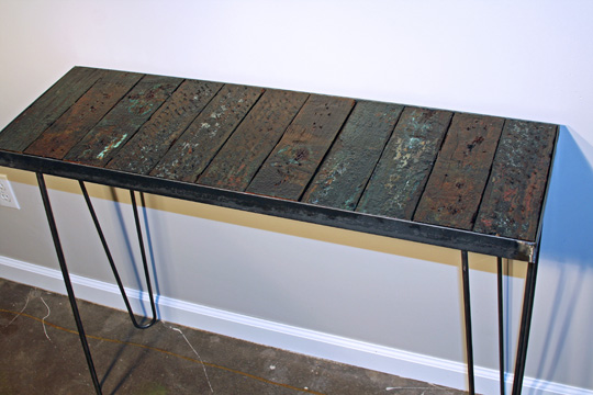 Combine 9 Industrial Furniture Console Table Steel