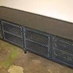 Steel top media console
