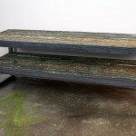 Barge wood tv stand