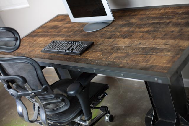 Vintage/Modern Industrial Desk -Table