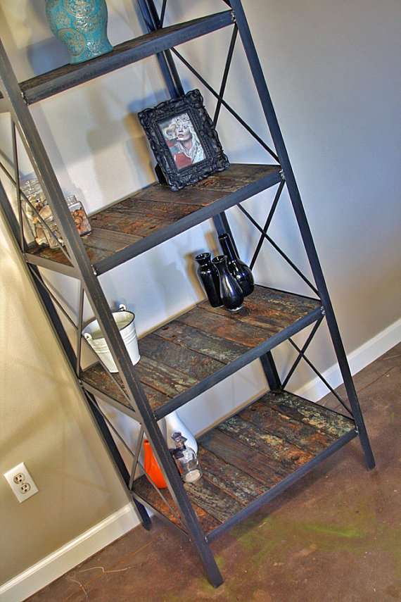 Industrial Bookcase Etagere Combine 9 Industrial
