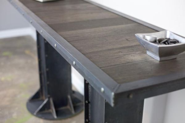 Modern Industrial Console Table.