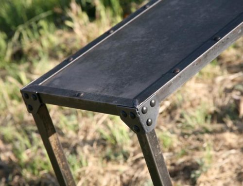 Industrial Steel Console Table