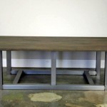 modern coffee table with steel legs