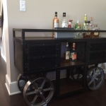 Industrial steel trolley bar cart