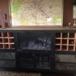 Industrial bar with wine rack