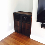 Reclaimed wood and steel cabinet