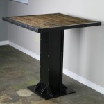 reclaimed wood bistro table