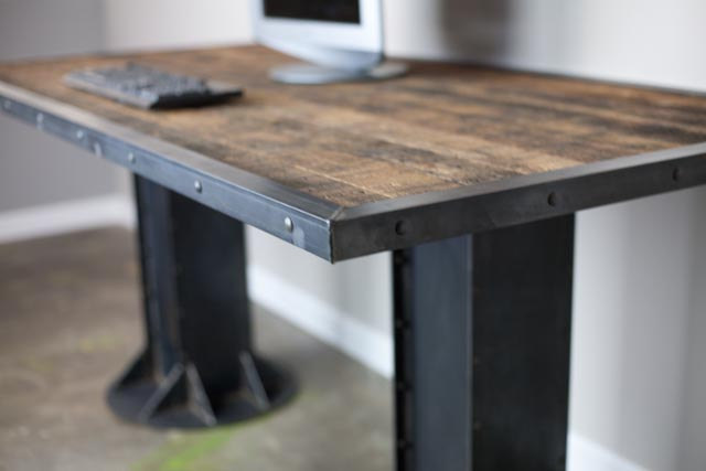 Modern industrial I-Beam Desk
