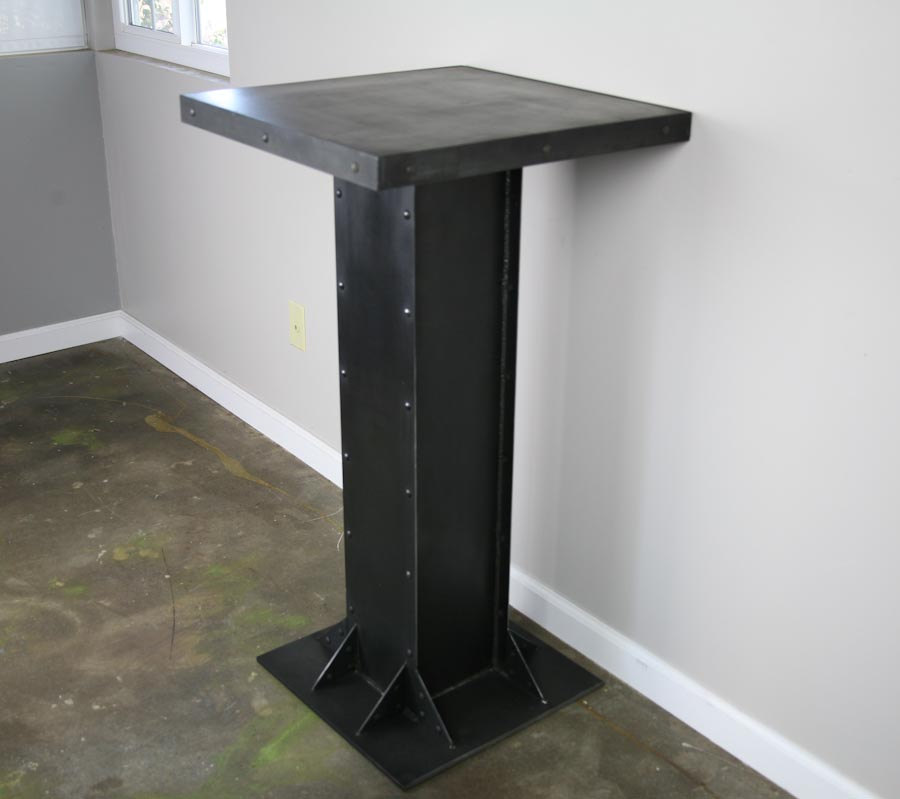 industrial I-beam bistro table