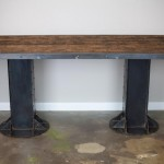 Modern reclaimed wood desk