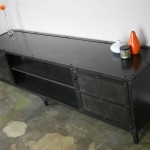 Industrial Steel Media Console (Open Middle)