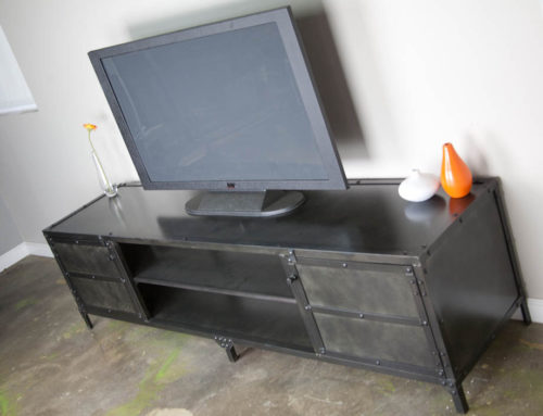 Steel Media Console (Open Middle)