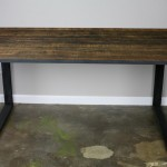 reclaimed wood and steel desk