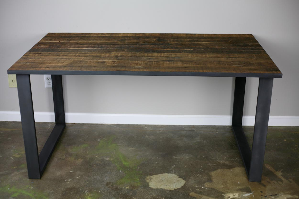 Table – Desk (Reclaimed wood, Steel) Industrial/ Vintage/ Modern