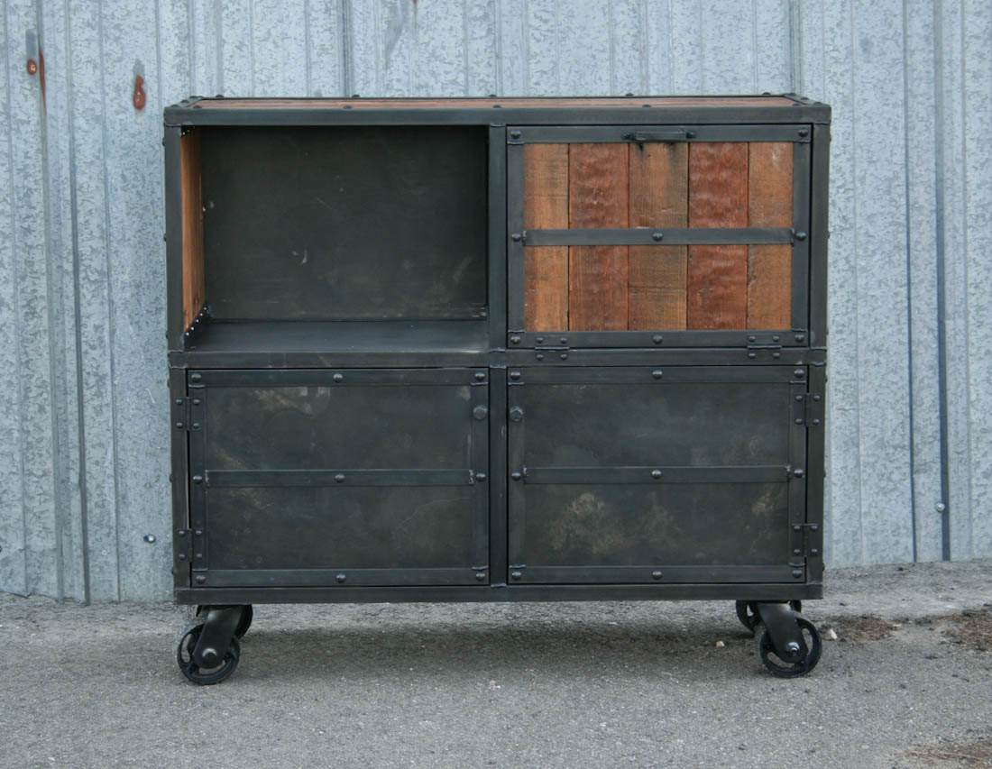 Combine 9 Industrial Furniture Industrial Bar Cart
