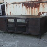 rustic industrial buffet